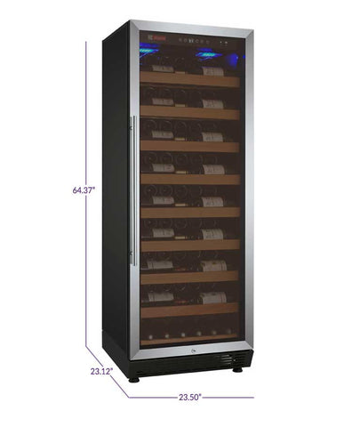 Allavino Vite Series 115 Bottle Single-Zone Wine Refrigerator - Stainless Door - Right Hinge - Swings and More