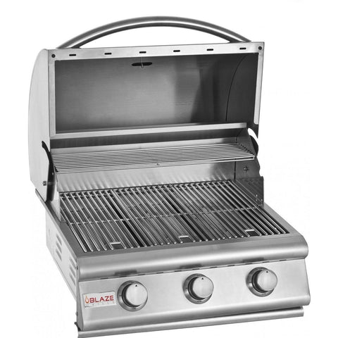 Blaze 25 Inch 3-Burner Built-In Propane Gas Grill - Swings and More