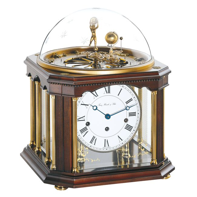 Hermle Tellurium III Mantel Clock 8-day spring wound movement