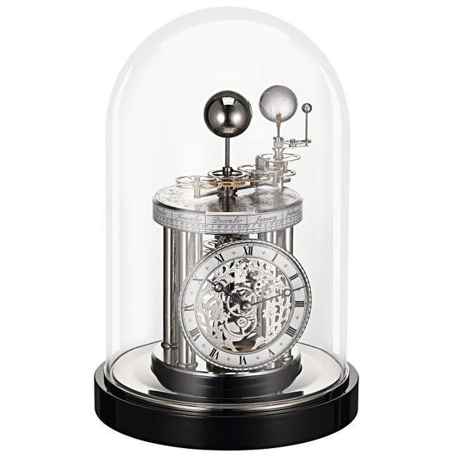 Hermle Astrolabium Mantel Clock Quartz Time Movement