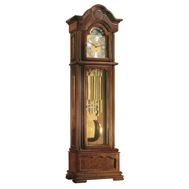 Hermle Temple Grandfather Clock Walnut Finish