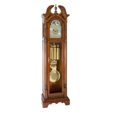 Hermle Hallmark Grandfather Clock Cherry Finish