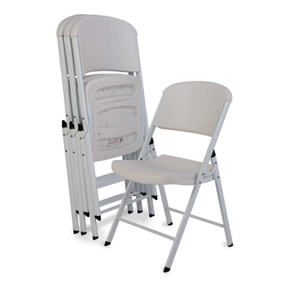 Lifetime Classic Folding Chair (Commercial) White 4pk. - Swings and More