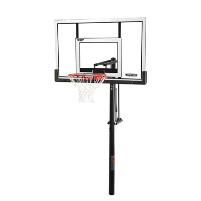 Lifetime Adjustable In-Ground Basketball Hoop 52-Inch Polycarbonate - Swings and More
