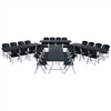 Image of Lifetime (4) 8-Foot Stacking Tables And (32) Chairs Combo (Commercial) - Swings and More