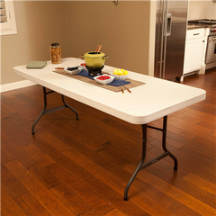 Lifetime 6-Foot Folding Table Commercial - Almond