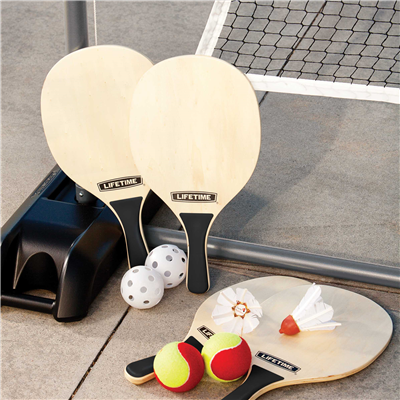 Lifetime Outdoor Games Set With Paddles - Swings and More
