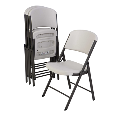 Lifetime Classic Folding Chair ( Commercial) - Almond 4pk. - Swings and More