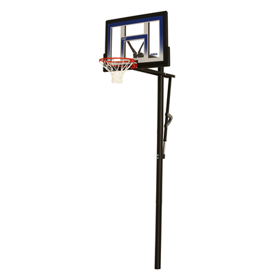 Lifetime Adjustable In-Ground Basketball Hoop 48-Inch Polycarbonate - Swings and More
