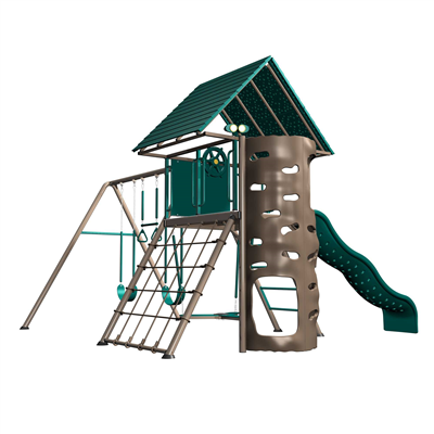 Lifetime A-Frame Playset (Earthtone) - Swings and More