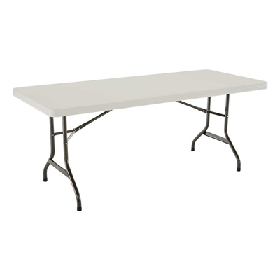 Lifetime 6-Foot Folding Table Commercial - Almond - Swings and More