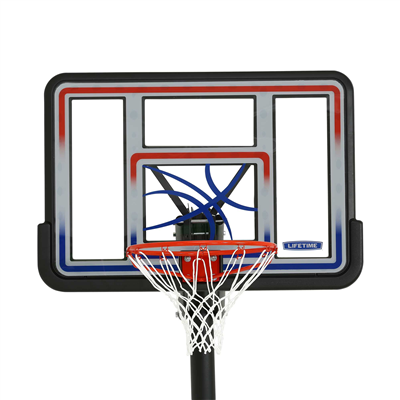 Lifetime Adjustable In-Ground Basketball Hoop 44-Inch Polycarbonate - Swings and More