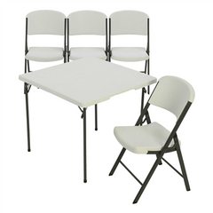 Lifetime 34 -Inch Card table And 4 Chairs Combo