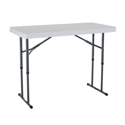 Lifetime 4-Foot Adjustable Height Table (Commercial)- White - Swings and More