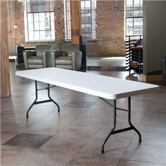 Lifetime 8- Foot Folding Table Commercial - White Granite