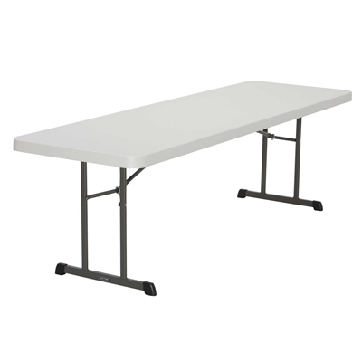 Lifetime 8-Foot Folding table - Almond - Swings and More