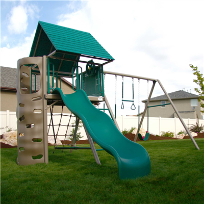 Lifetime A-Frame Swing Set (Earthtone) - Swings and More