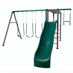 Lifetime Monkey Bar Adventure Swing Set (Earthtone) - Swings and More