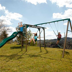 Lifetime Monkey Bar Adventure Swing Set (Earthtone)