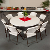 Image of LIFETIME (4) 72-INCH ROUND TABLES AND (40) CHAIRS COMBO (COMMERCIAL) - Swings and More
