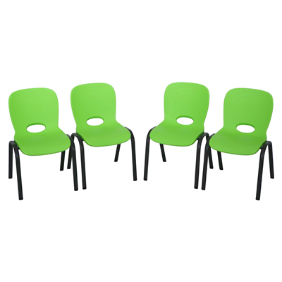 Image of Lifetime Childrens Chair 4pk (Essential) Lime Green - Swings and More
