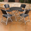 Image of Lifetime 33-Inch Round Personal Table And (4) Chairs Set - Swings and More