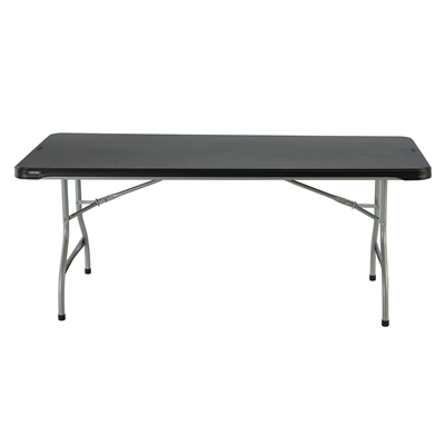 Lifetime 6-Foot Nesting Table - Black (Commercial) - Swings and More