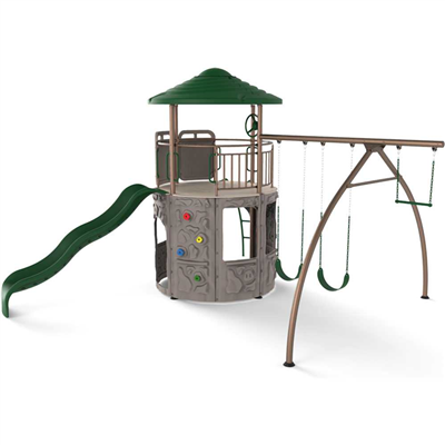Lifetime Adventure Tower (Earthtone) - Swings and More