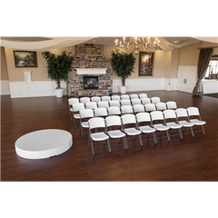 Lifetime (4) 60-Inch Round Stacking Table And (32) Chair Combo (Commercial)