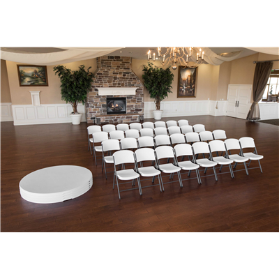 LIFETIME (4) 72-INCH ROUND TABLES AND (40) CHAIRS COMBO (COMMERCIAL) - Swings and More