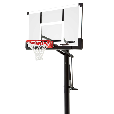 Lifetime Adjustable In-Ground Basketball Hoop 54-Inch Tempered Glass - Swings and More