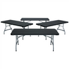 Image of Lifetime (4) 6-Foot Stacking Tables And (24) Chairs Combo (Commercial) - Swings and More