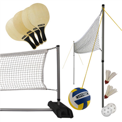 Lifetime Outdoors Game Set With Paddles and Volleyball - Swings and More