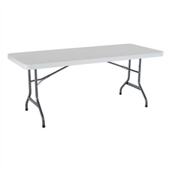 Lifetime 6-Foot Folding Table Commercial White Granite - Swings and More
