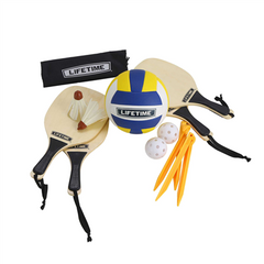 Lifetime Outdoors Game Set With Paddles and Volleyball