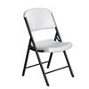 Lifetime Classic Folding Chair (Commercial) - White With Grey Frame - Swings and More