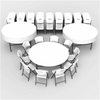 Image of Lifetime (12) 72-Inch Round Tables and (120) Chairs Combo (Commercial) - Swings and More