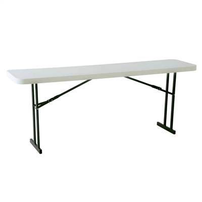 Lifetime 8-Foot Seminar Table - White Granite (Commercial) - Swings and More