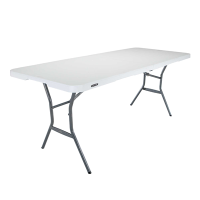 Lifetime 6-Foot Fold-In-Half Light Table - White Granite - Swings and More