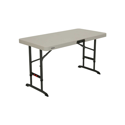 Lifetime 4-Foot Adjustable Table (Commercial)- Almond - Swings and More