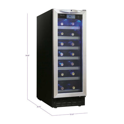 Danby Silhouette Pecorino 27 Bottle Wine Cooler - Stainless Steel Door - Swings and More