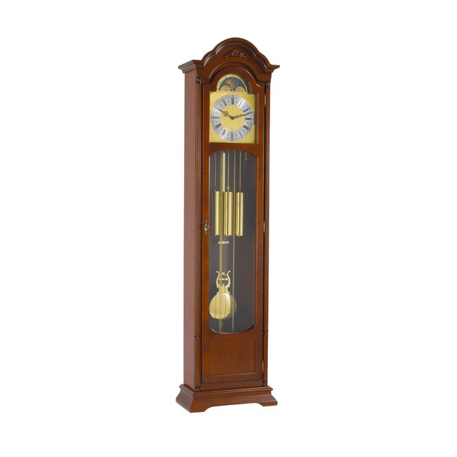 Hermle Atherton Grandfather Clock Walnut Finish