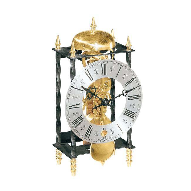 Hermle Galahad II Mantel Clock Wrought Iron