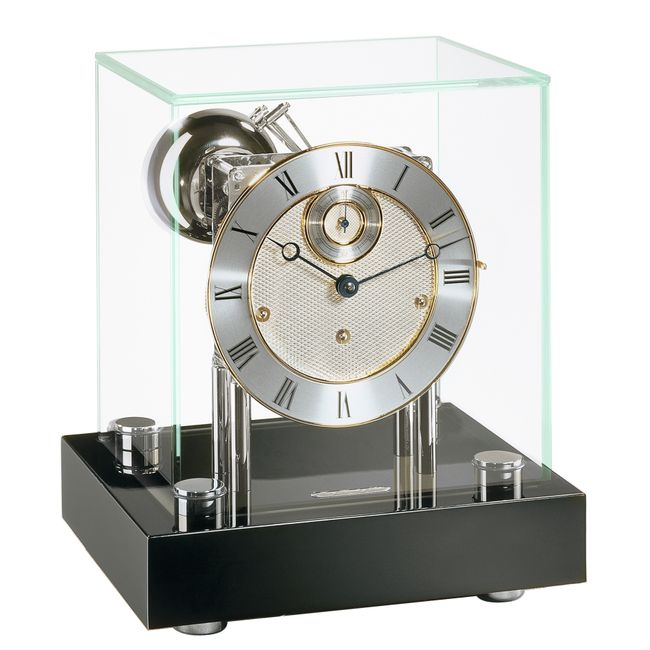 Hermle Chigwell Mantel Clock Black Finish