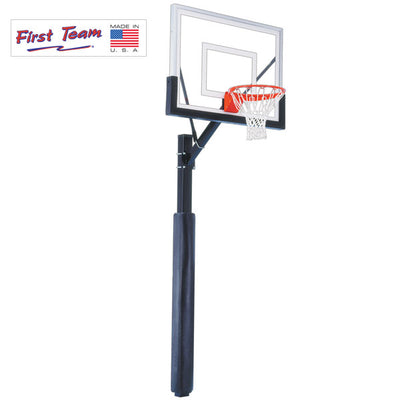 First Team Brute Impervia Fixed Height Basketball Hoop