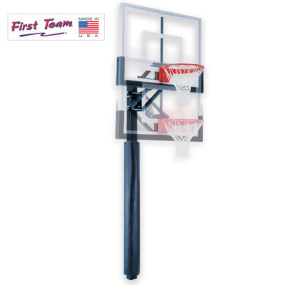 "First Team Champ Nitro In Ground Adjustable Basketball Hoop 36""x60"""