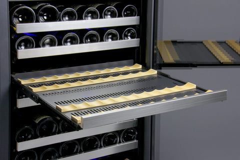 Allavino FlexCount Series 121 Bottle Dual Zone Wine Refrigerator with Left Hinge VSWR121-2SSLN - Swings and More