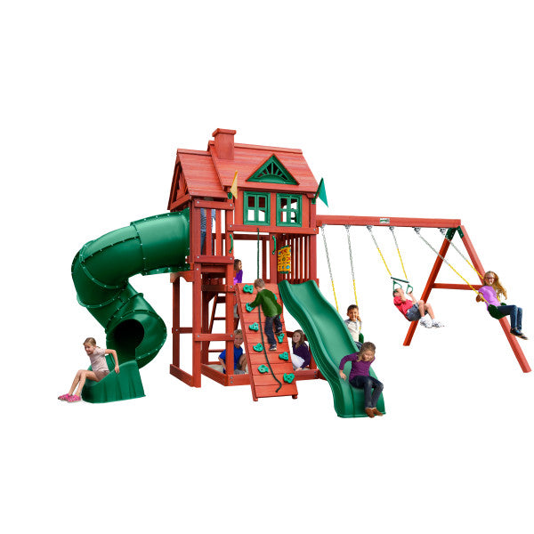 Gorilla Nantucket Deluxe Swing Set 01-0096 - Swings and More