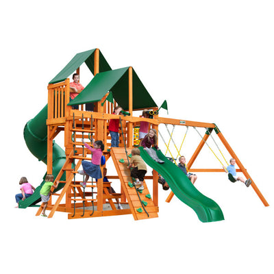 Gorilla Playsets Great Skye I Swing Set with Sunbrella Canvas Canopy 01-0030-AP-2 - Swings and More