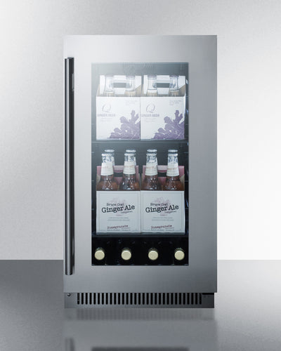 "Summit 18"" Wide Built-In Beverage Center CL181WBVCSS - Swings and More"